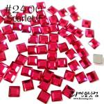플샵 - #2400 정사각평큐빅(스칼렛)3mm: 100개